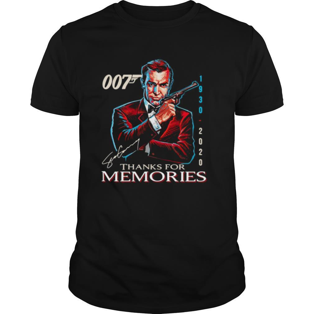 007 1930 – 2020 Signature Thanks For Memories shirt Classic Men's