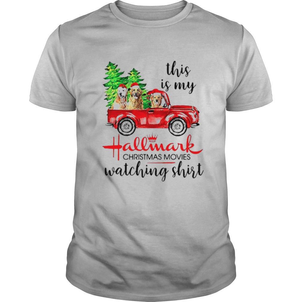 Golden retriever santa This is my Hallmark Christmas movie shirt Classic Men's