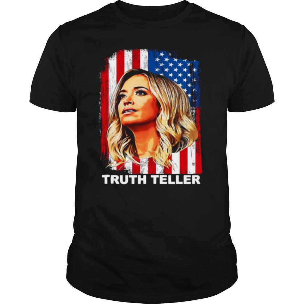 Kayleigh McEnany Truth Teller American Flag shirt Classic Men's