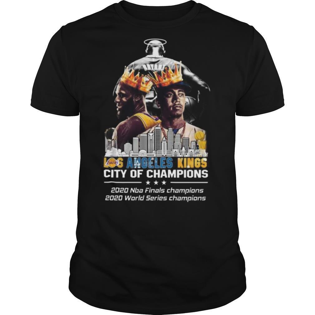 Kobe Bryant LeBron James and Corey Seager LA Kings City Of Champions 2020 shirt Classic Men's
