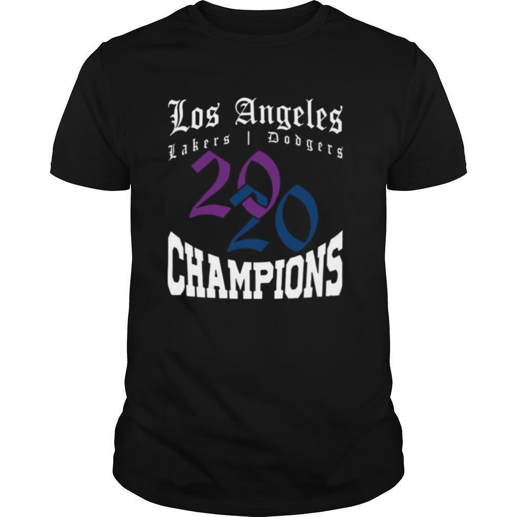 LA Dodgers & Lakers 2020 Champions World Series Baseball Finals Basketball Championship shirt Classic Men's