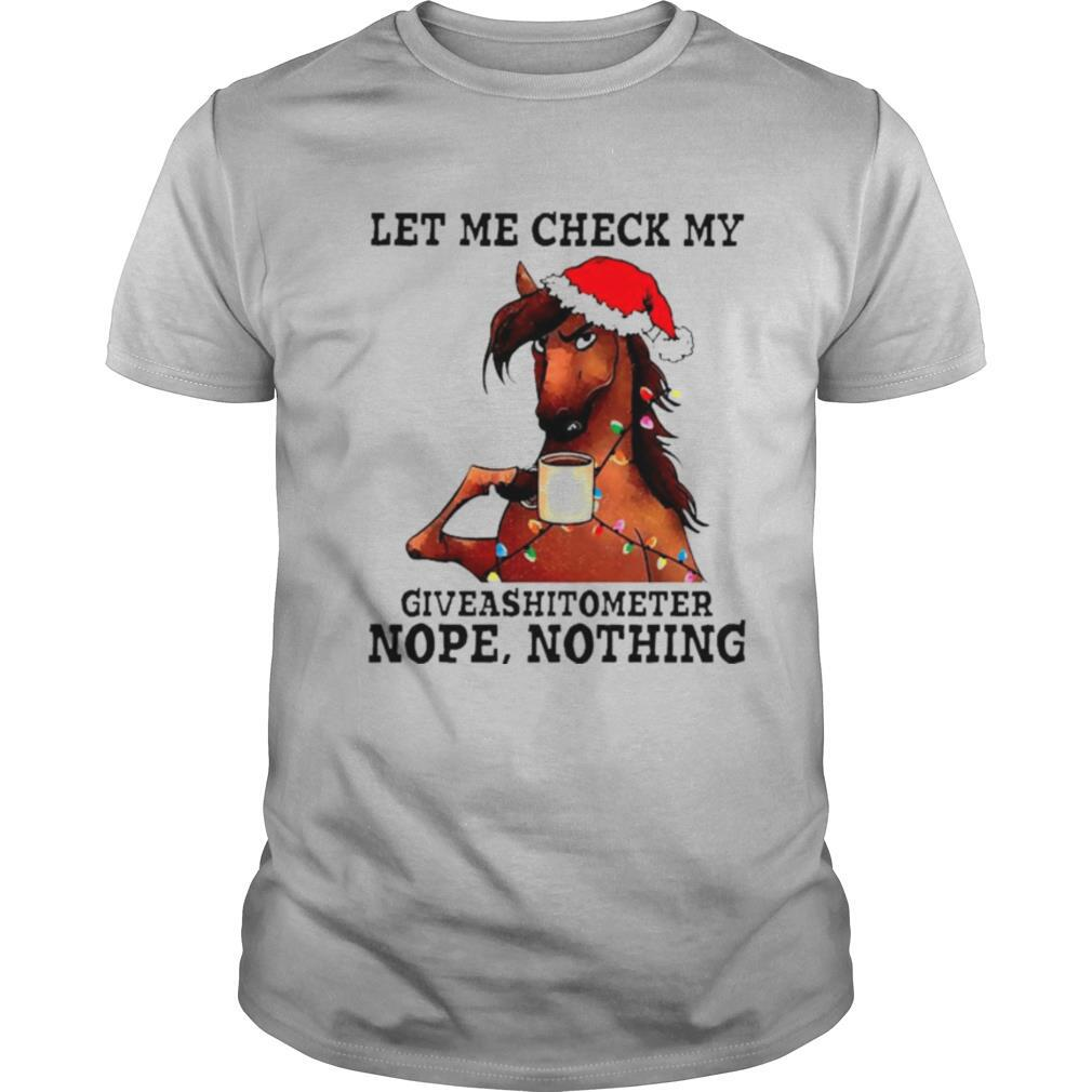 Let me check my giveashitometer nope nothing Christmas shirt Classic Men's