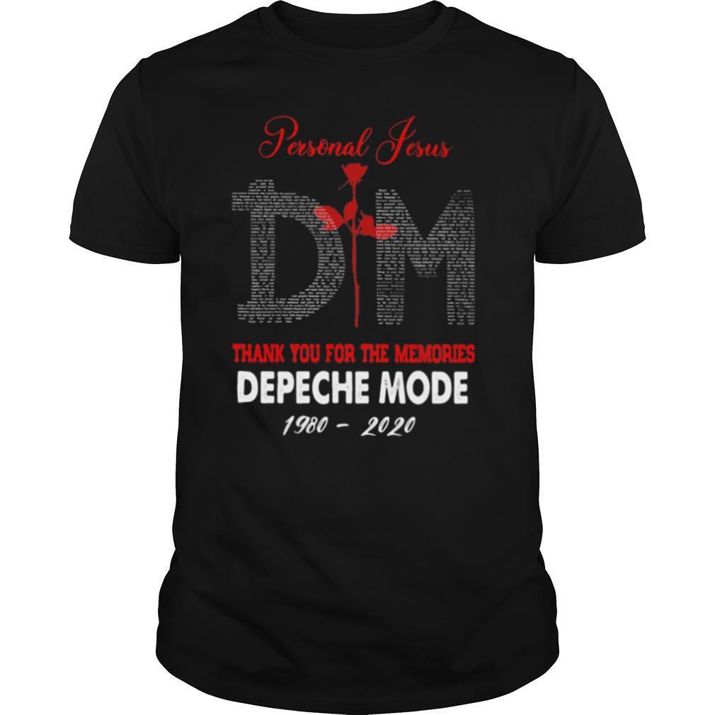 Personal Jesus Dm Thank You For The Memories Depeche Mode 1980 2020 shirt Classic Men's