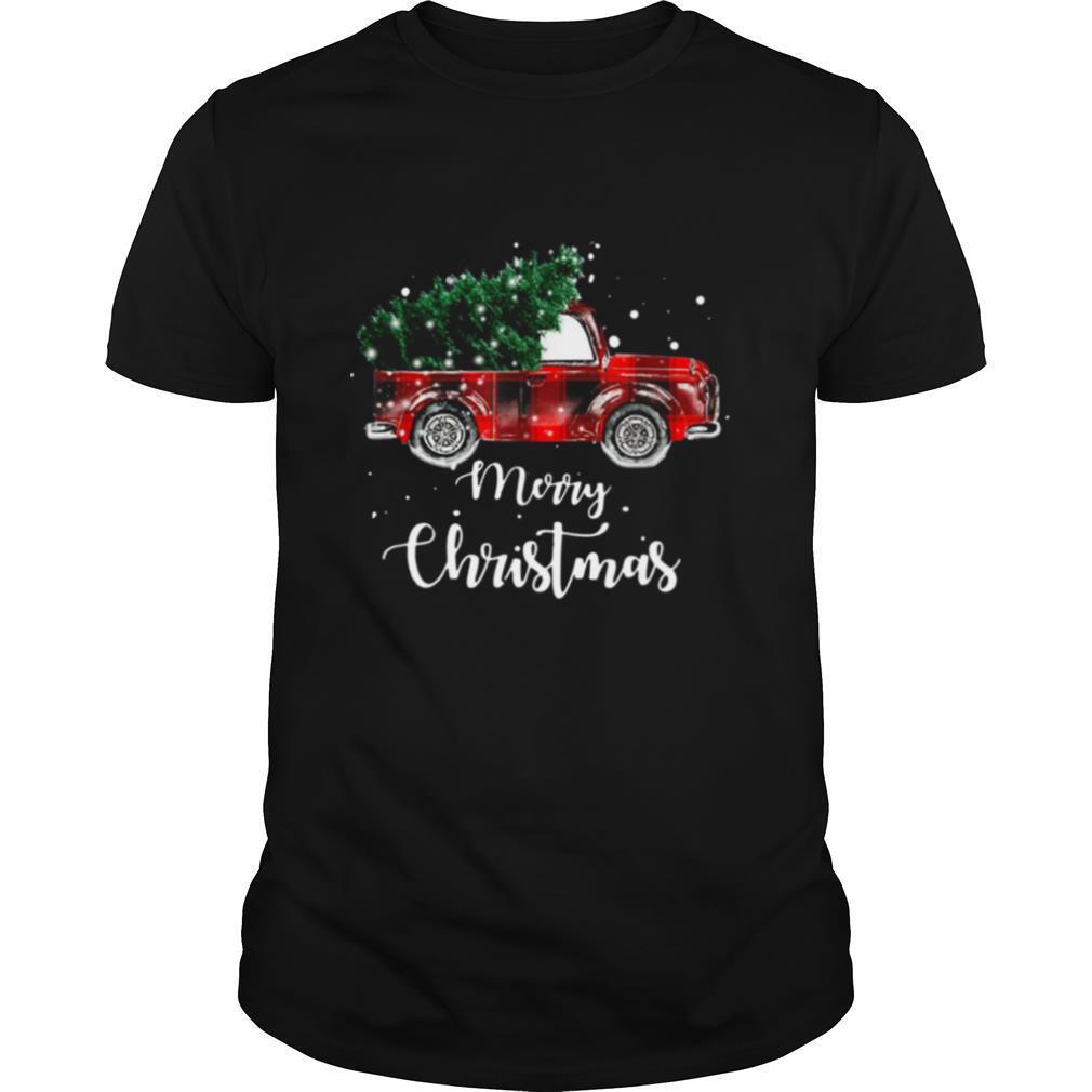 Buffalo Plaid Christmas Tree Red Truck shirt Classic Men's