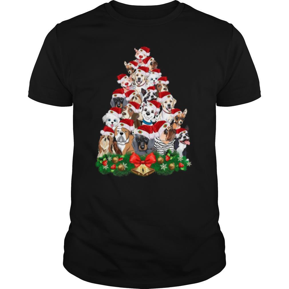 Dogs Tree Merry Christmas shirt Classic Men's