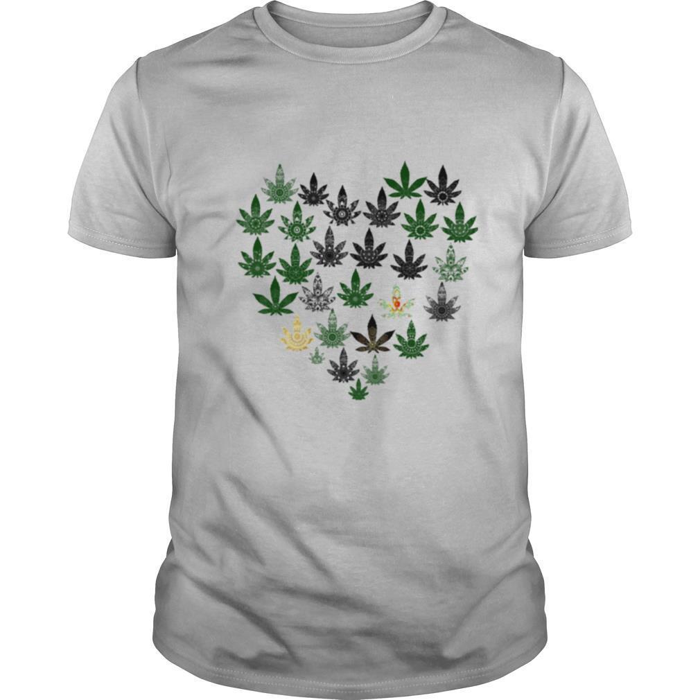 Love weed hippie heart shirt Classic Men's