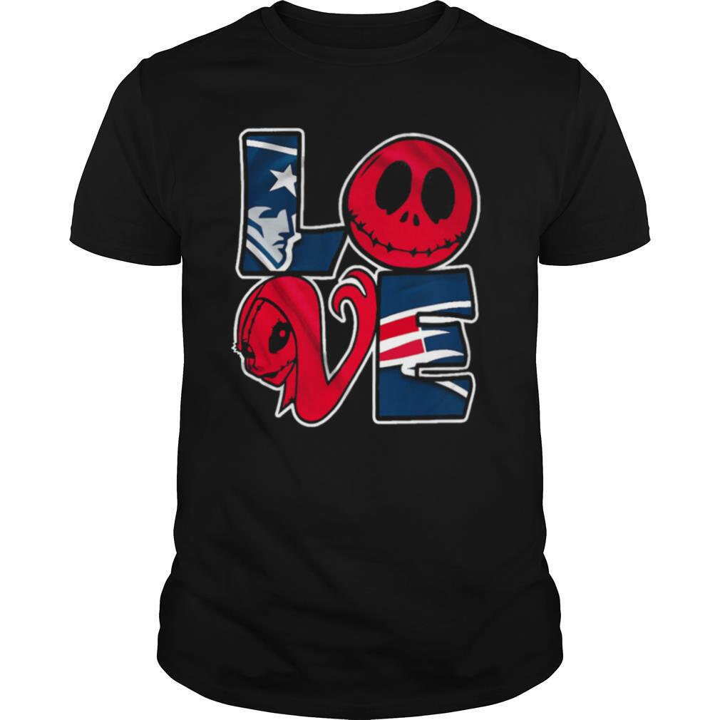 Patriots Jack Skellington And Sally Love shirt Classic Men's