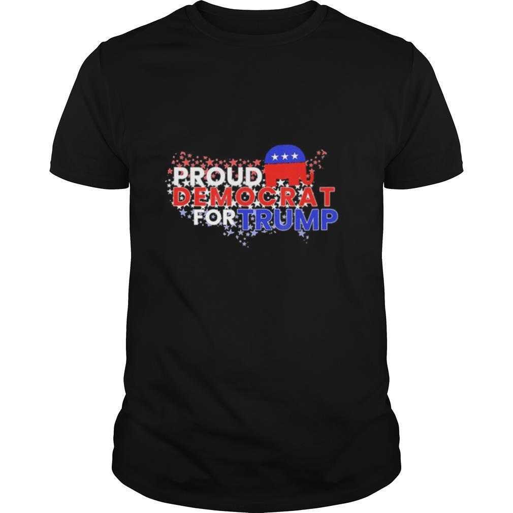 Proud Democrats For Trump Flag US shirt Classic Men's