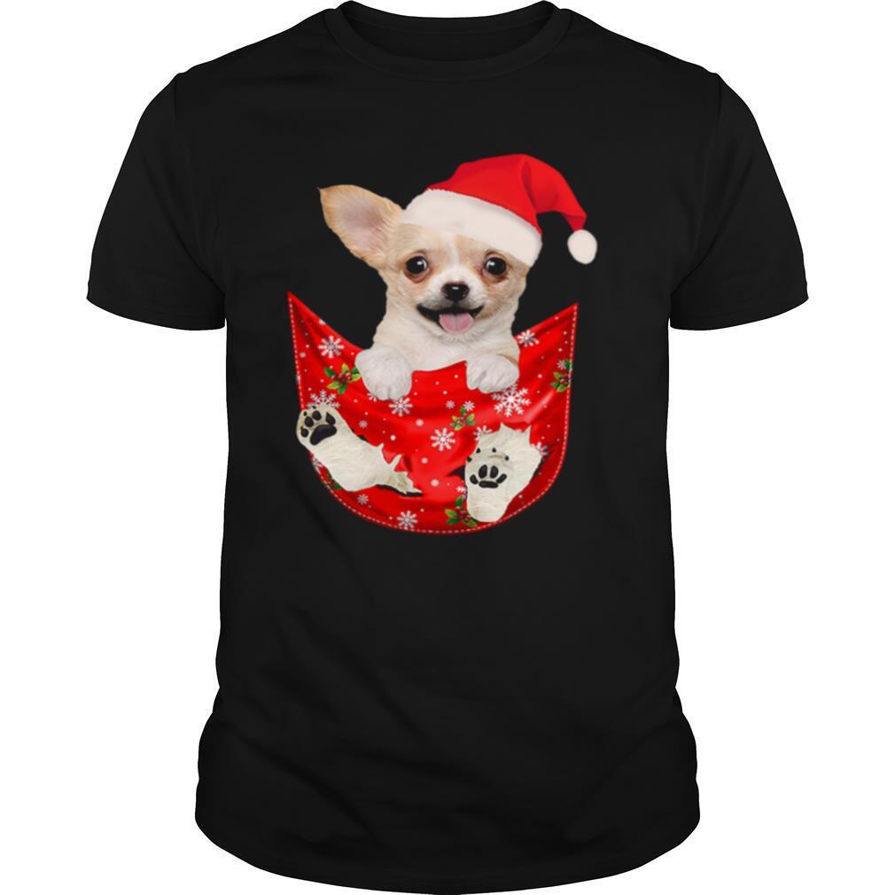 Santa Chihuahua Dog Merry Christmas shirt Classic Men's