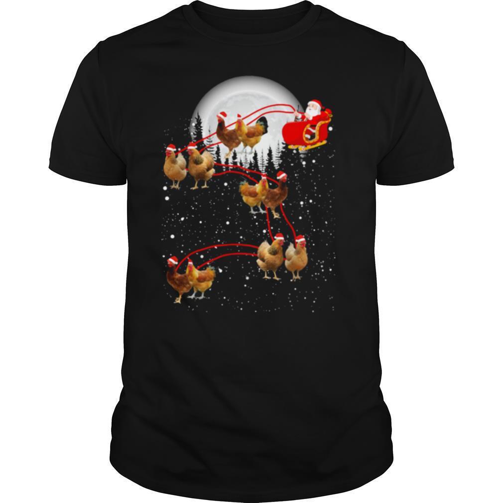 chicken with santa claus xmas shirt Classic Men's