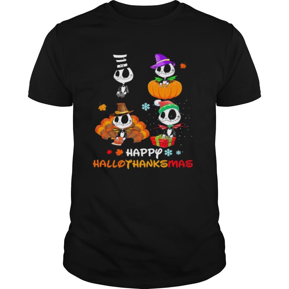 Good Jack Skellington Happy Hallothanksmas shirt Classic Men's