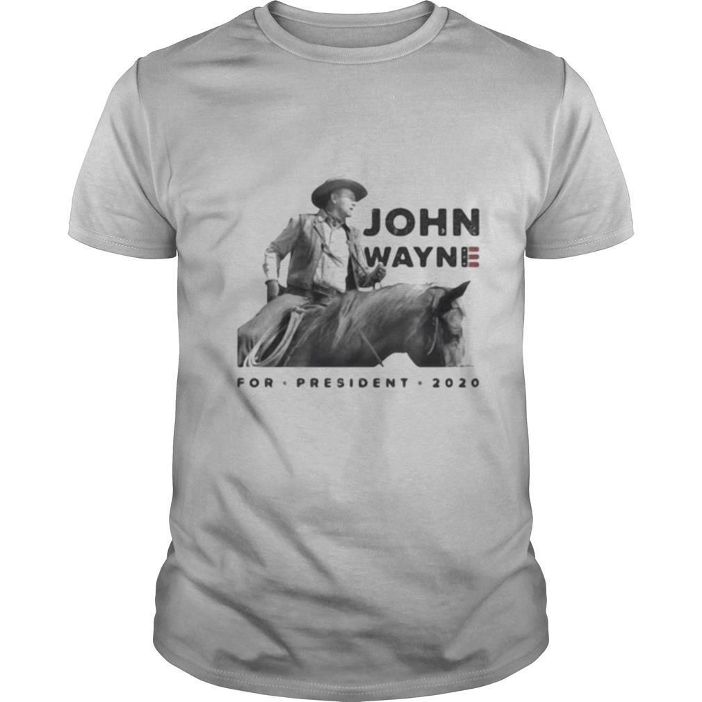 John wayne riding horse for president 2020 shirt Classic Men's