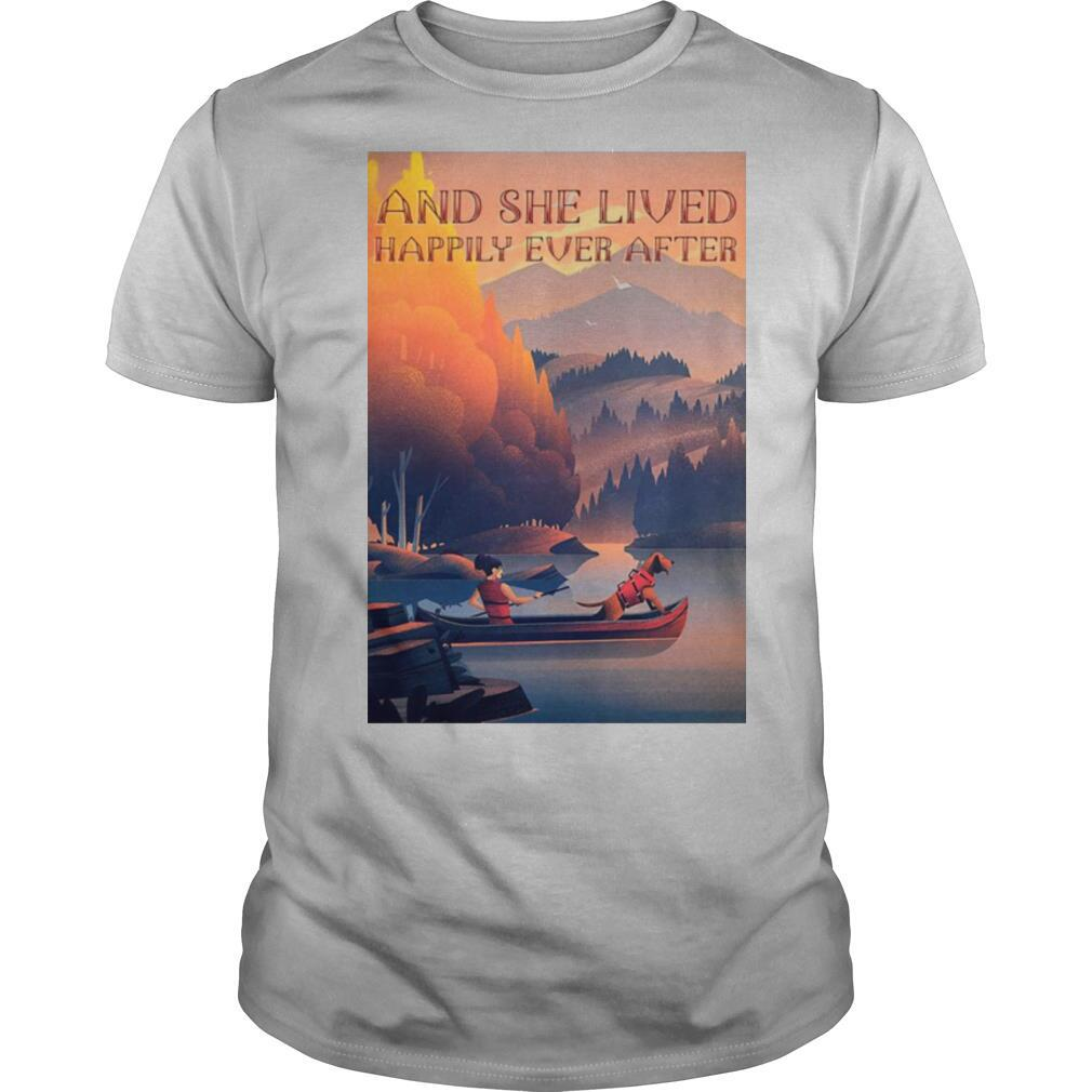 Kayak Dogs And She Lived Happily shirt Classic Men's