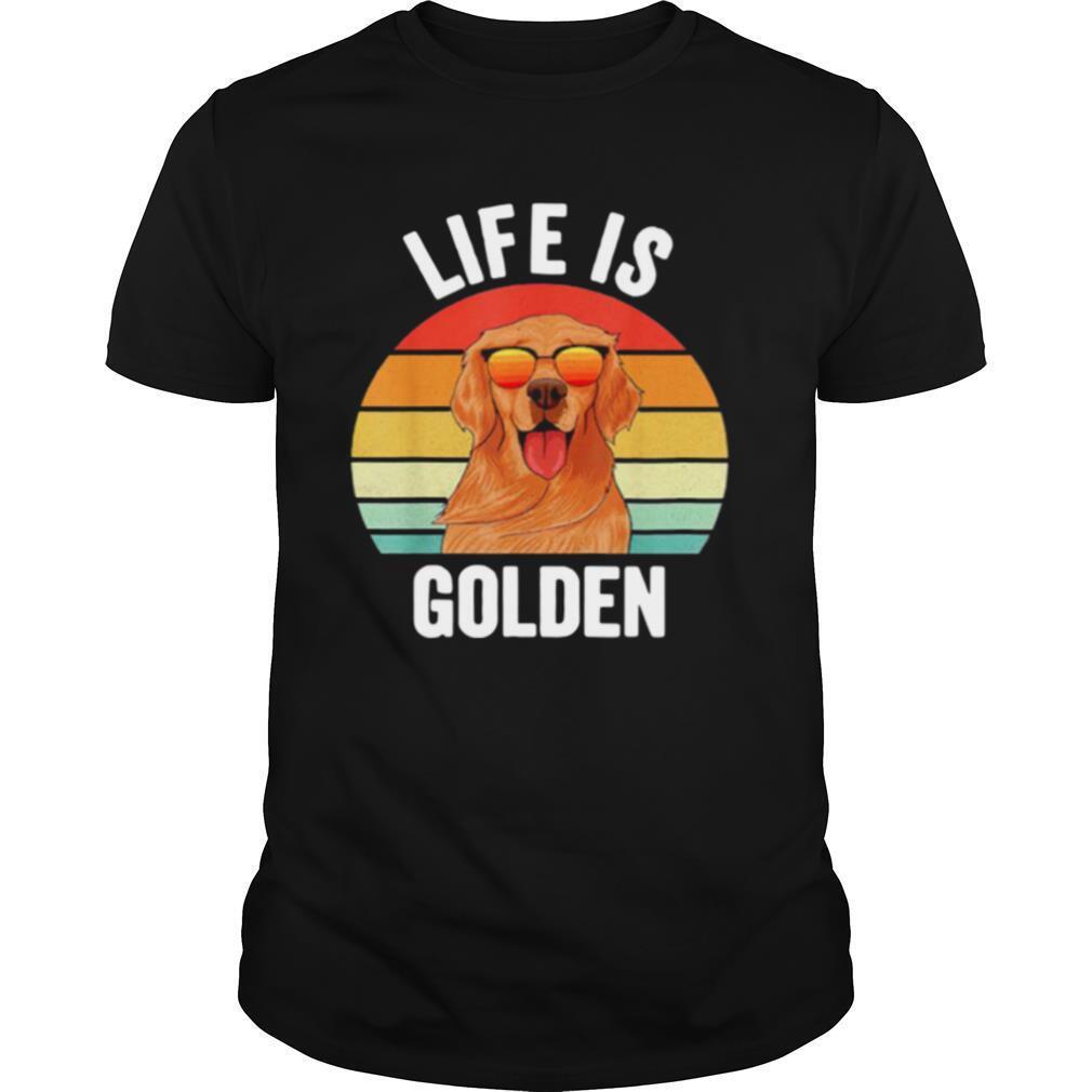 Life Is Golden Retriever Vintage shirt Classic Men's