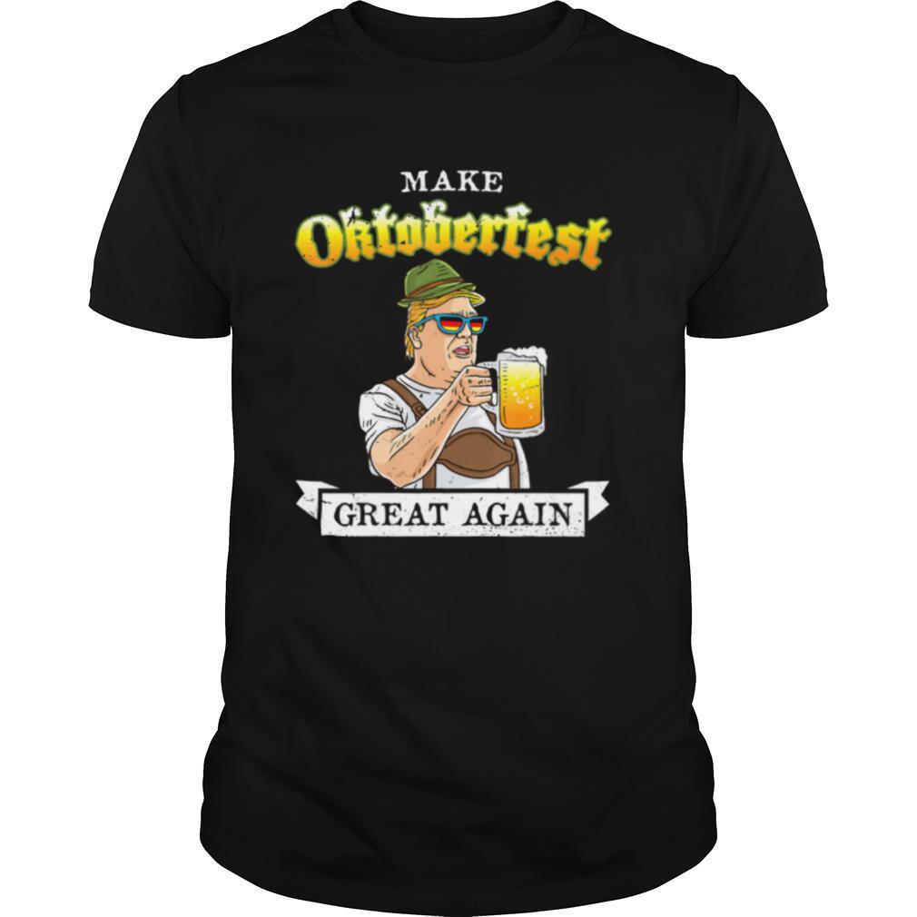 Make Oktoberfest Great Again Trump Drinking Bavarian Beer shirt Classic Men's