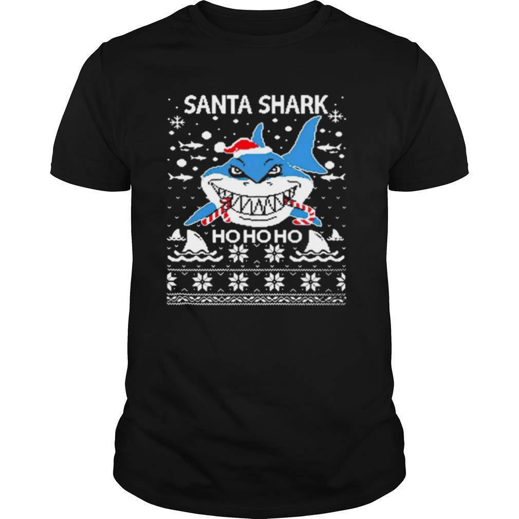 Santa Shark Ho Ho Ho Christmas shirt Classic Men's