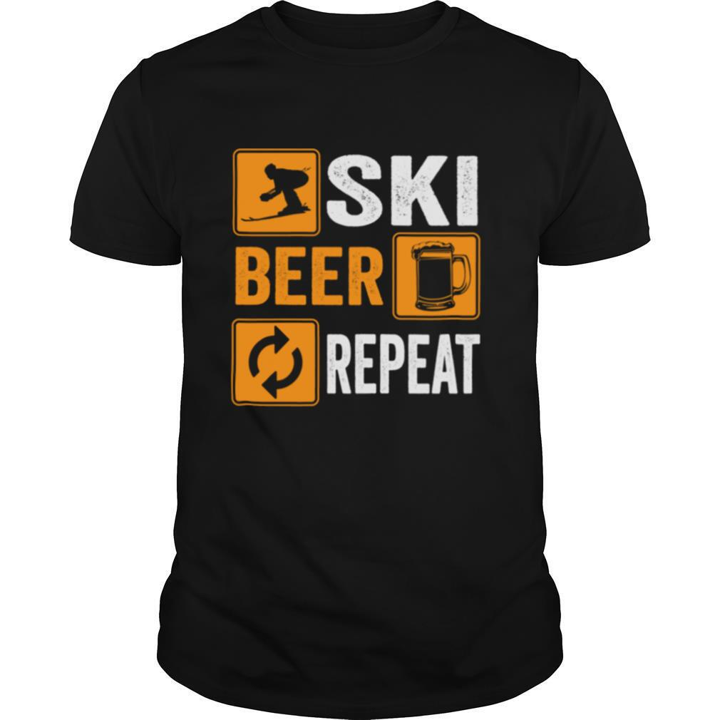 Ski Beer Repeat Downhill Skiing shirt Classic Men's
