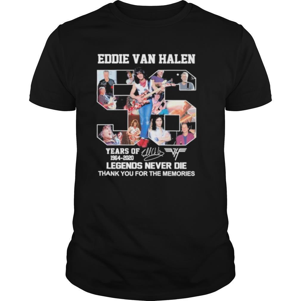 56 Eddie Van Halen years of Legend Never Die thank you for the memories shirt Classic Men's