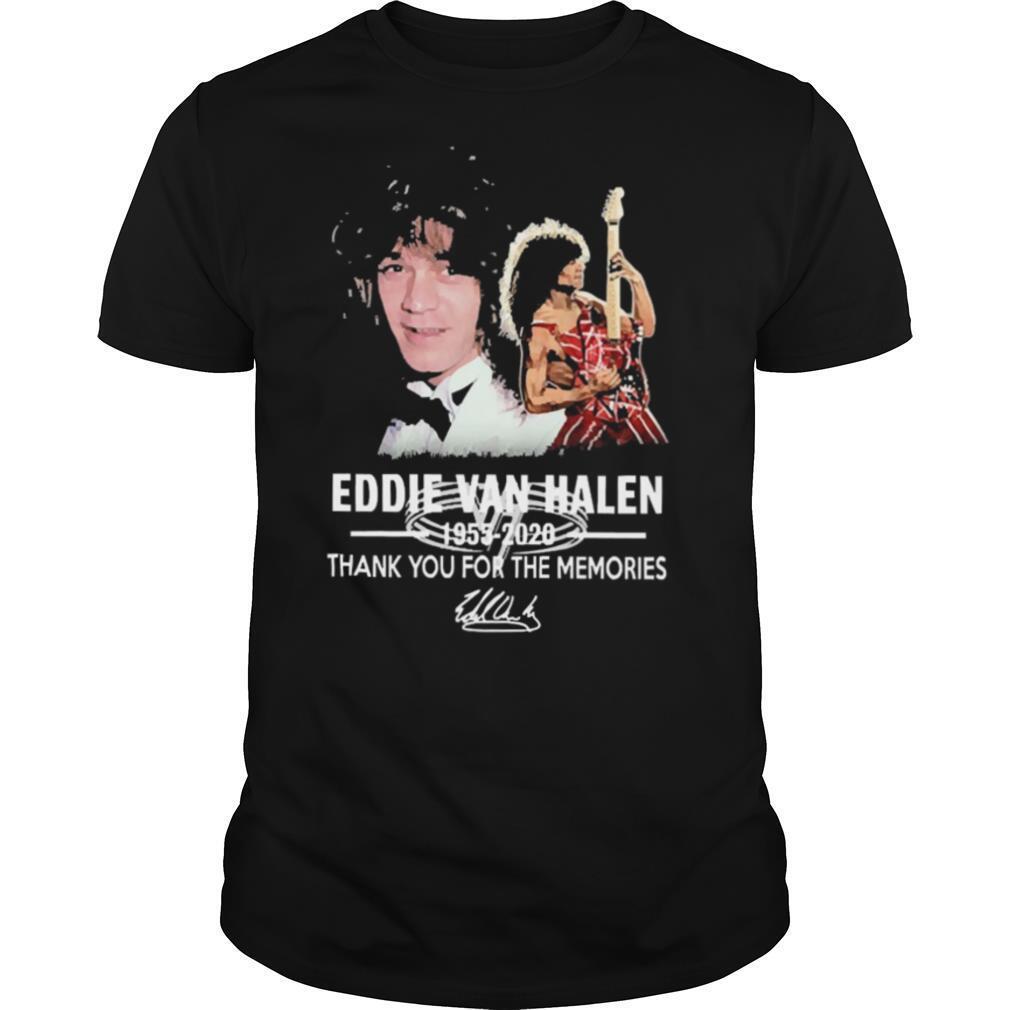 Eddie Van Halen Thank You For The Memories Signature shirt Classic Men's