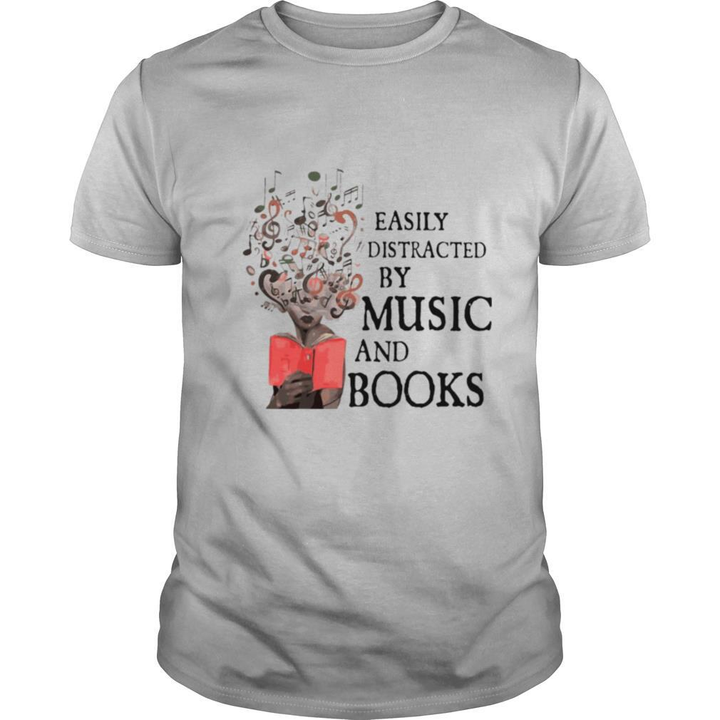 Girl Easily Distracted By Music And Books shirt Classic Men's