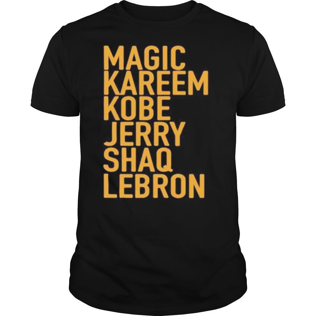 Magic kareem kobe jerry shaq lebron shirt Classic Men's