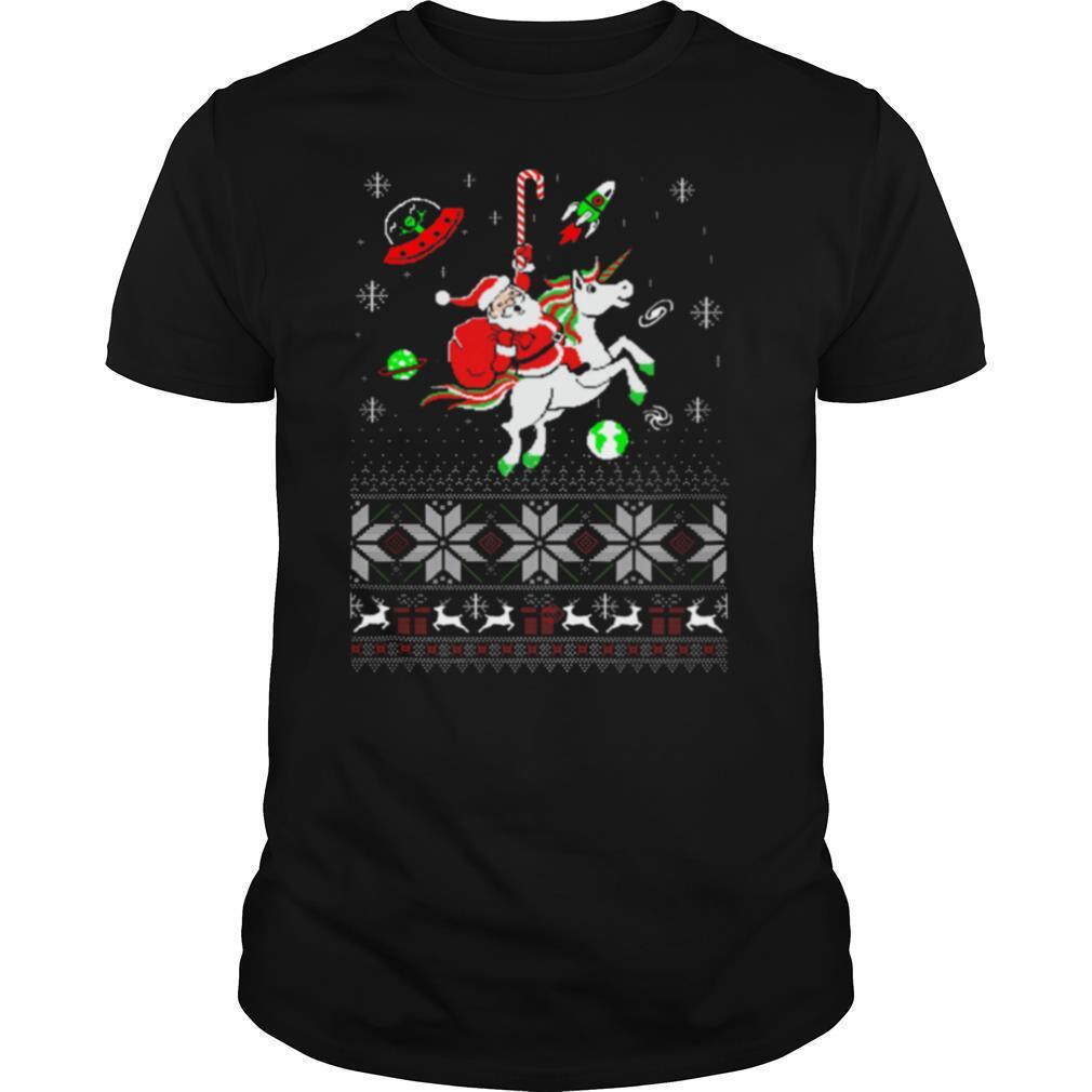 Santa Unicorn Ugly Christmas shirt Classic Men's
