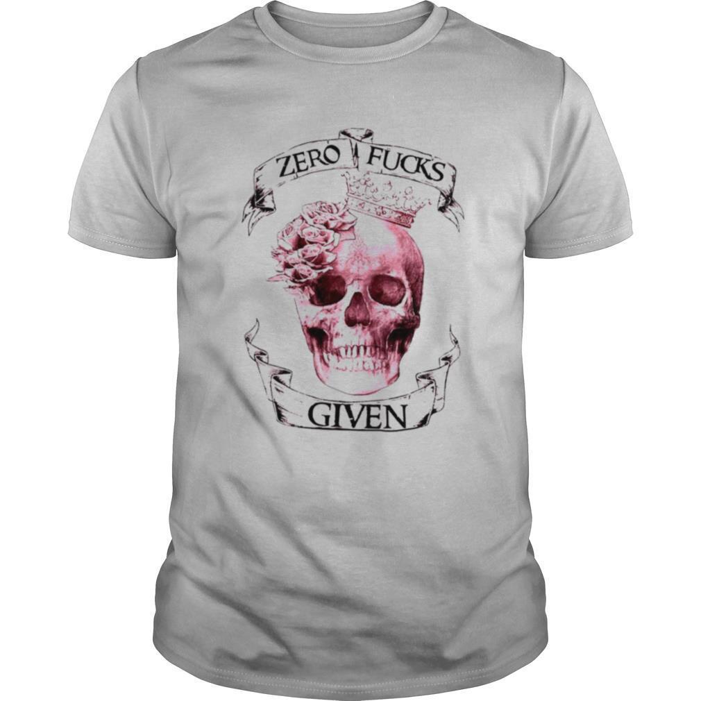 Skull girl zero fucks given shirt Classic Men's