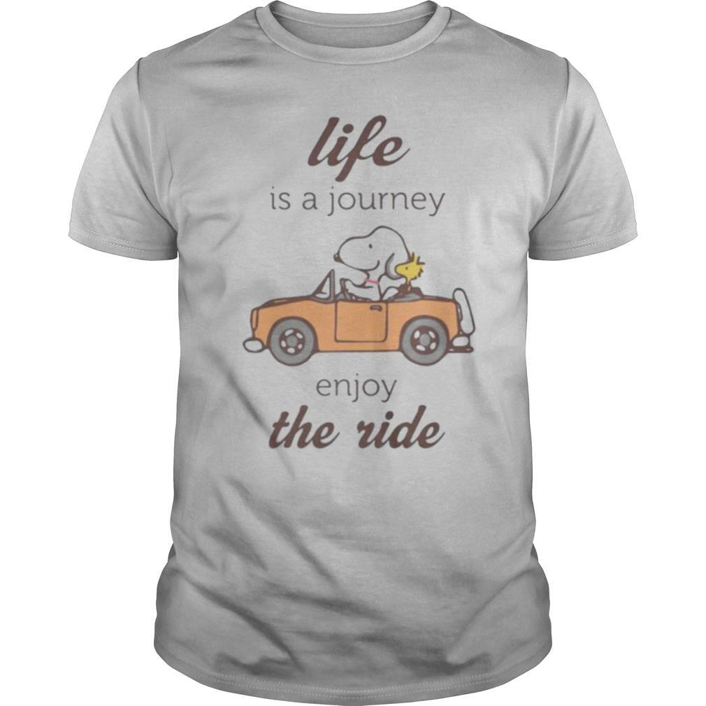 Snoopy and woodstock life is a journey enjoy the ride shirt Classic Men's