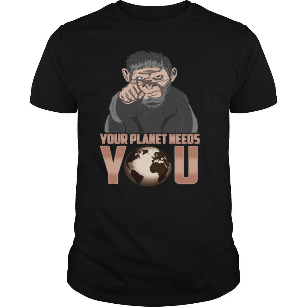 Your Planet Needs You Climate Change Global Warming shirt Classic Men's