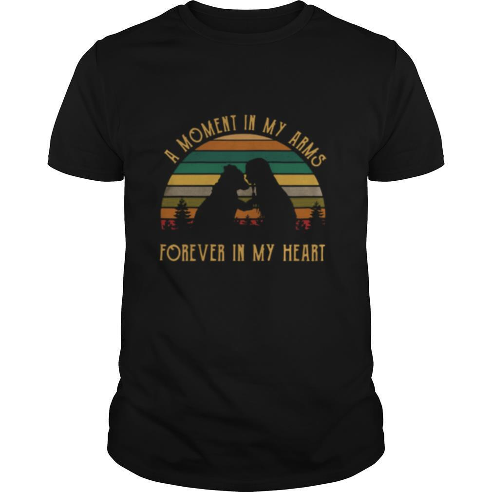 A Moment In My Arms Forever In My Heart Vintage Retro shirt Classic Men's