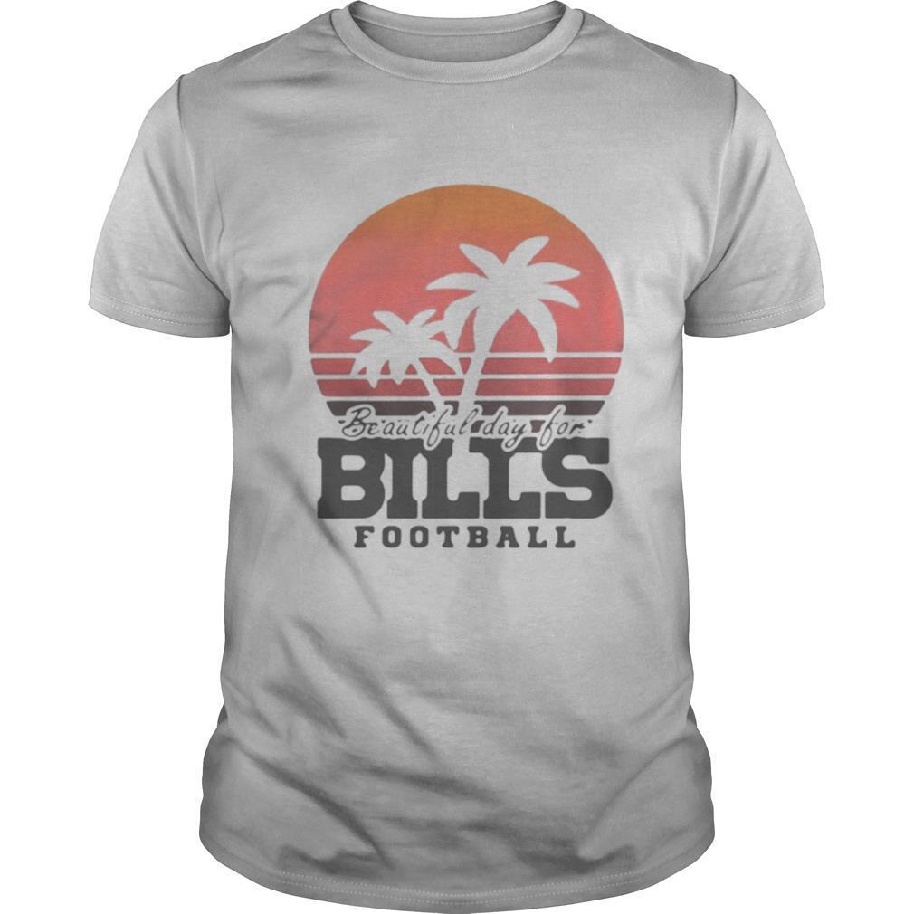 Beautiful day for bills football vintage retro shirt Classic Men's