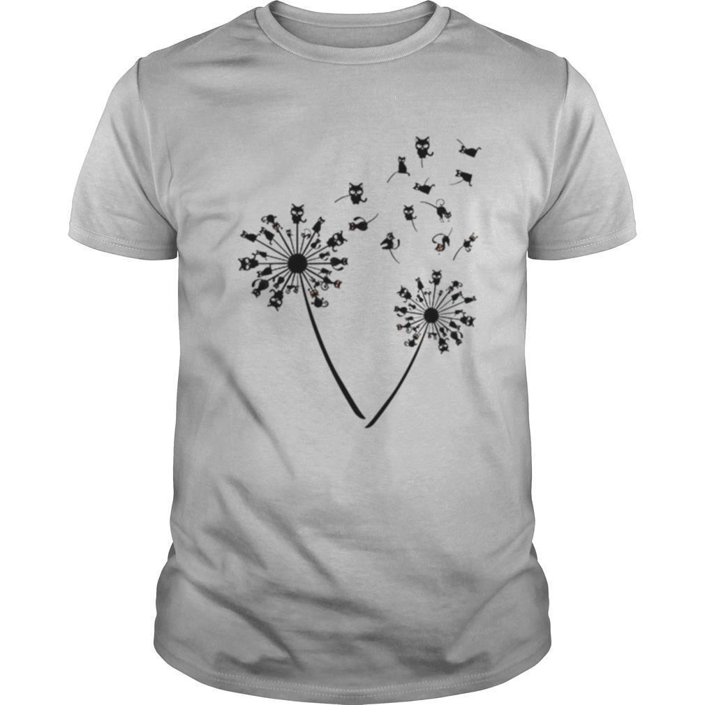 Black Cat Dandelion shirt Classic Men's