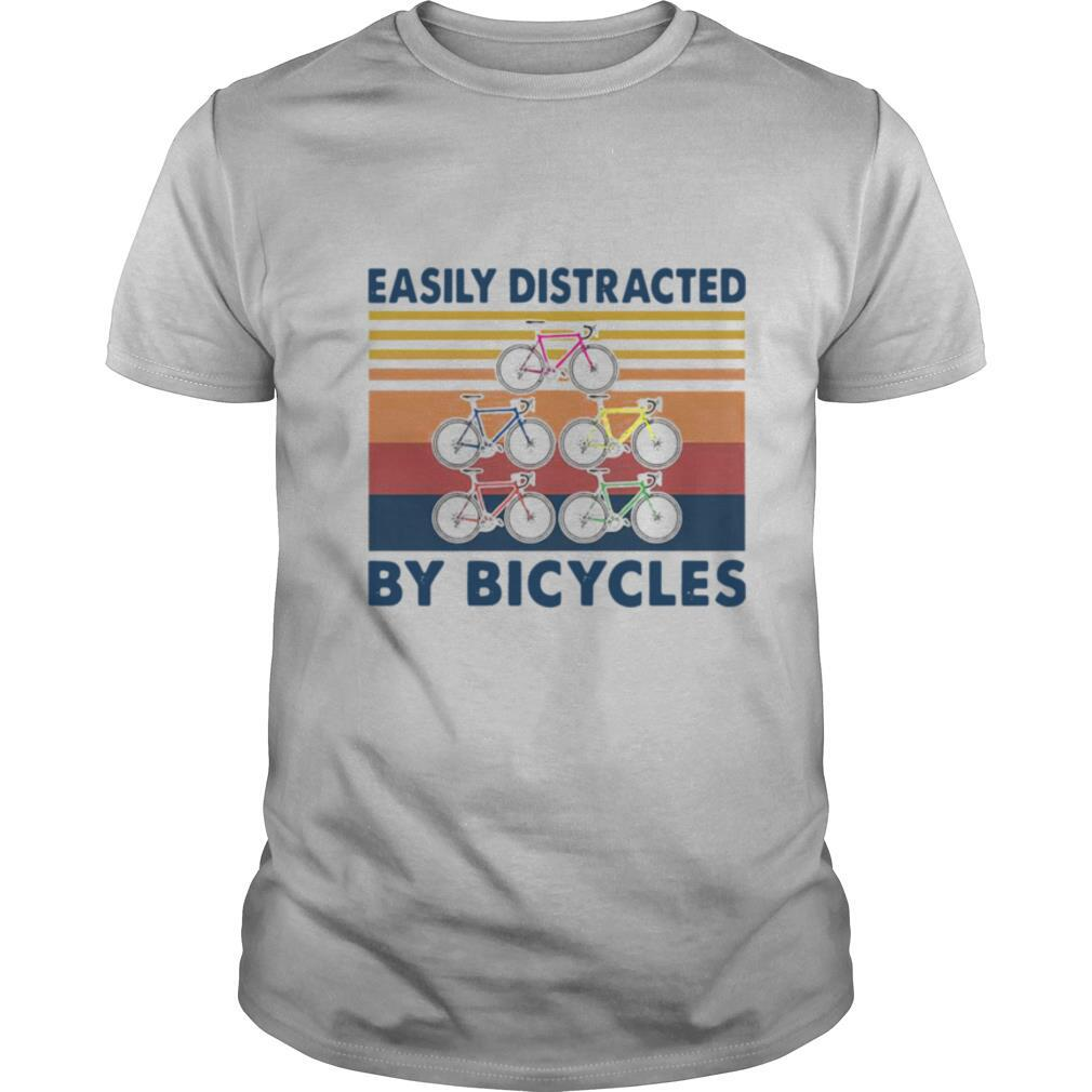 Easily Distracted By Bicycles Vintage shirt Classic Men's