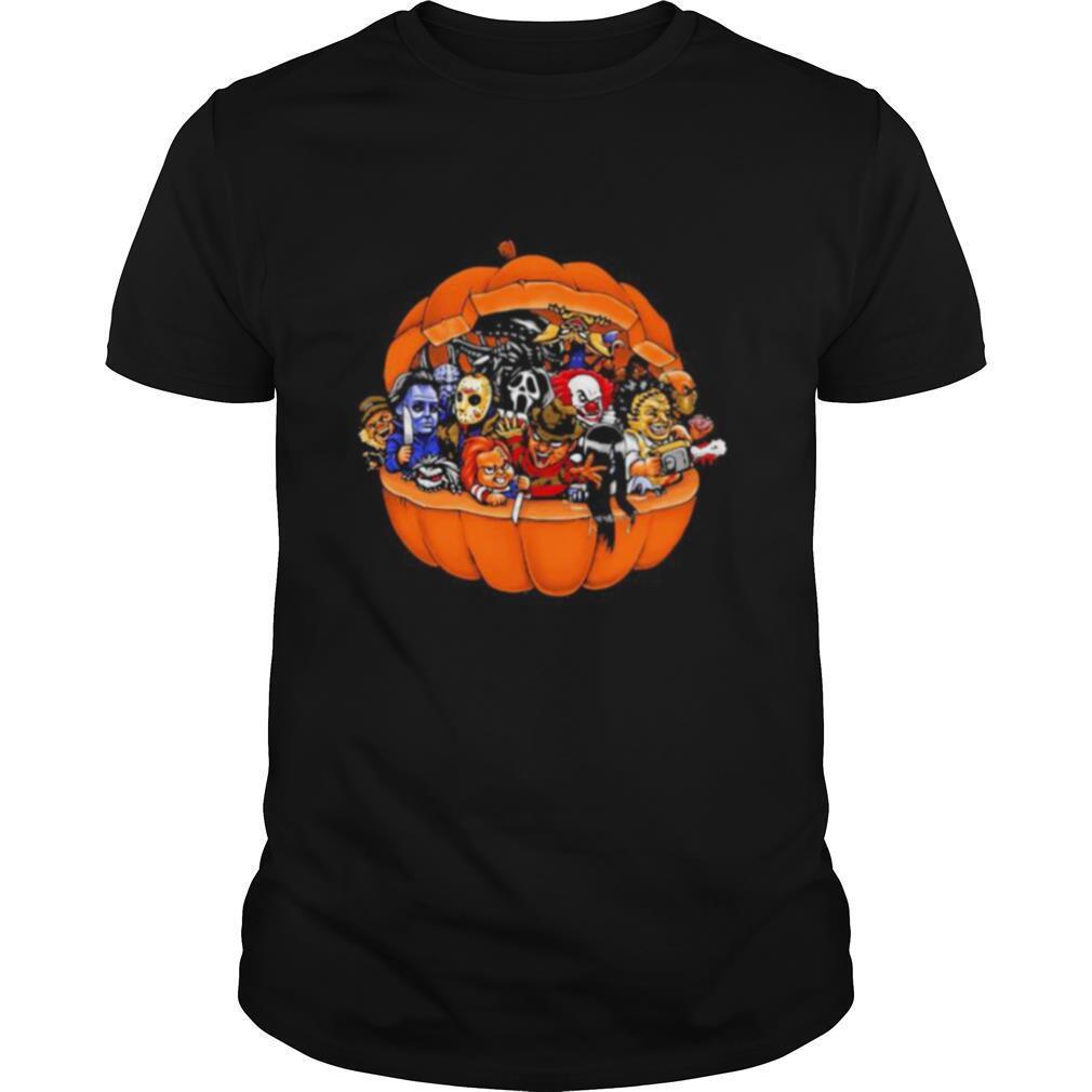 Halloween horror characters pumpkin shirt Classic Men's