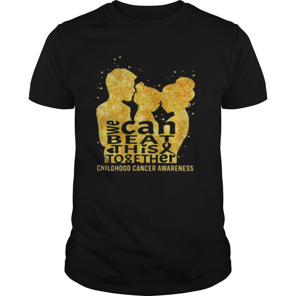 We can beat this together childhood cancer awareness shirt Classic Men's