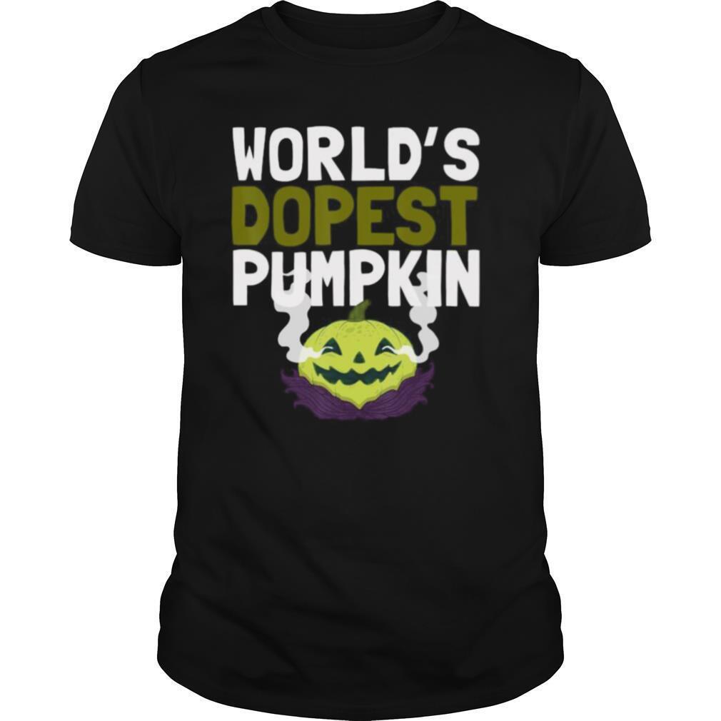 World's Dopest Pumpkin Weed Marijuana halloween shirt Classic Men's