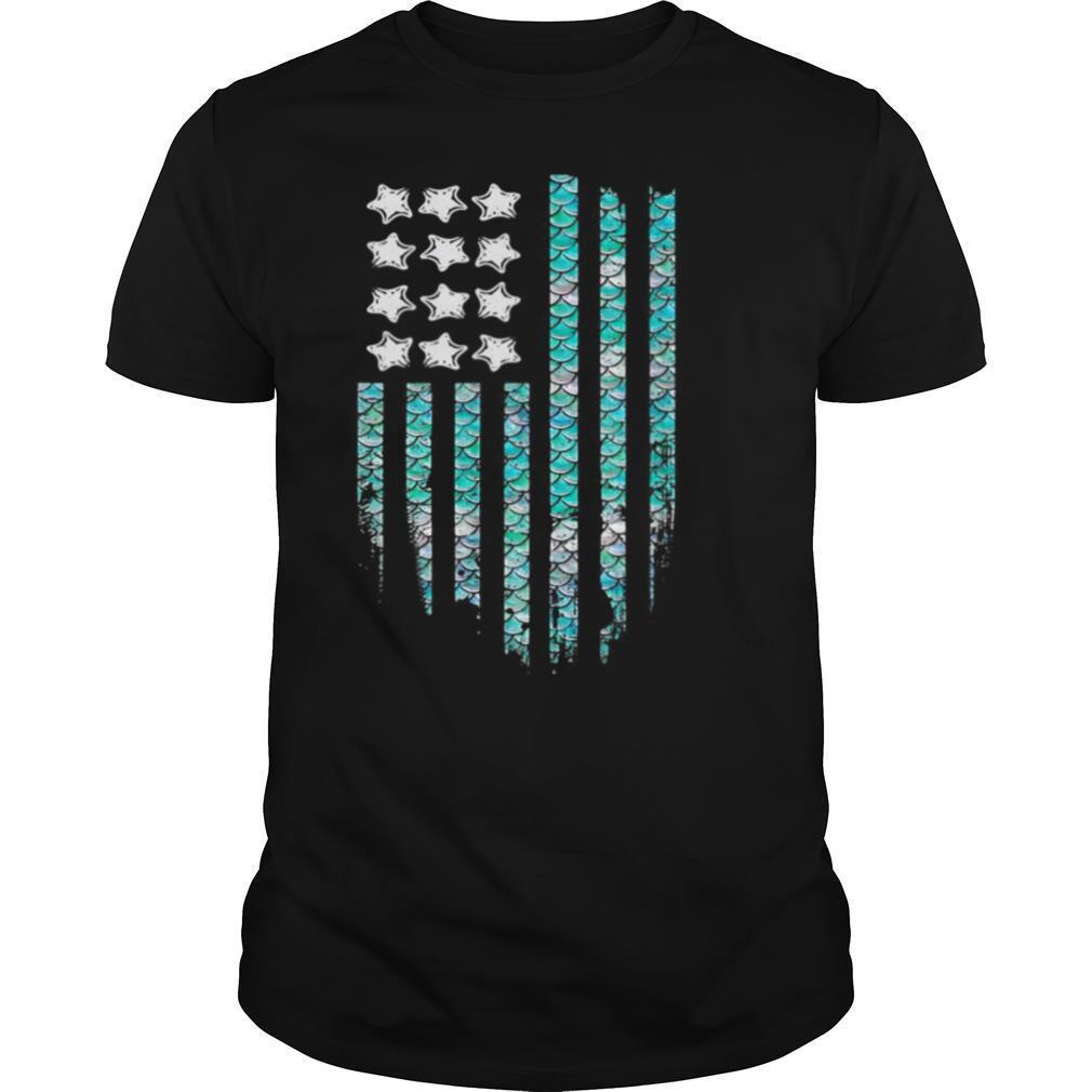 American Mermaid Flag shirt Classic Men's