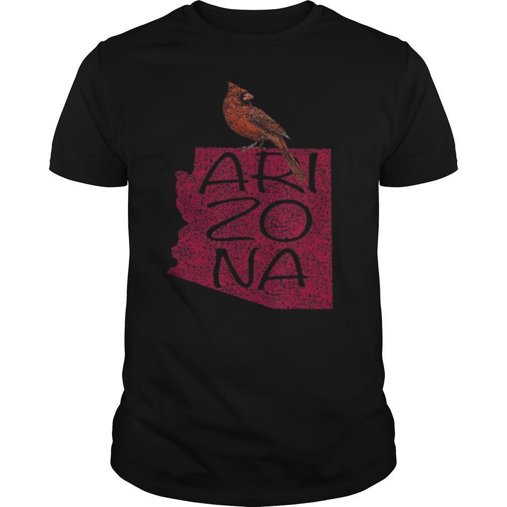 Black Vintage Cardinal Red Bird Arizona AZ Football shirt Classic Men's