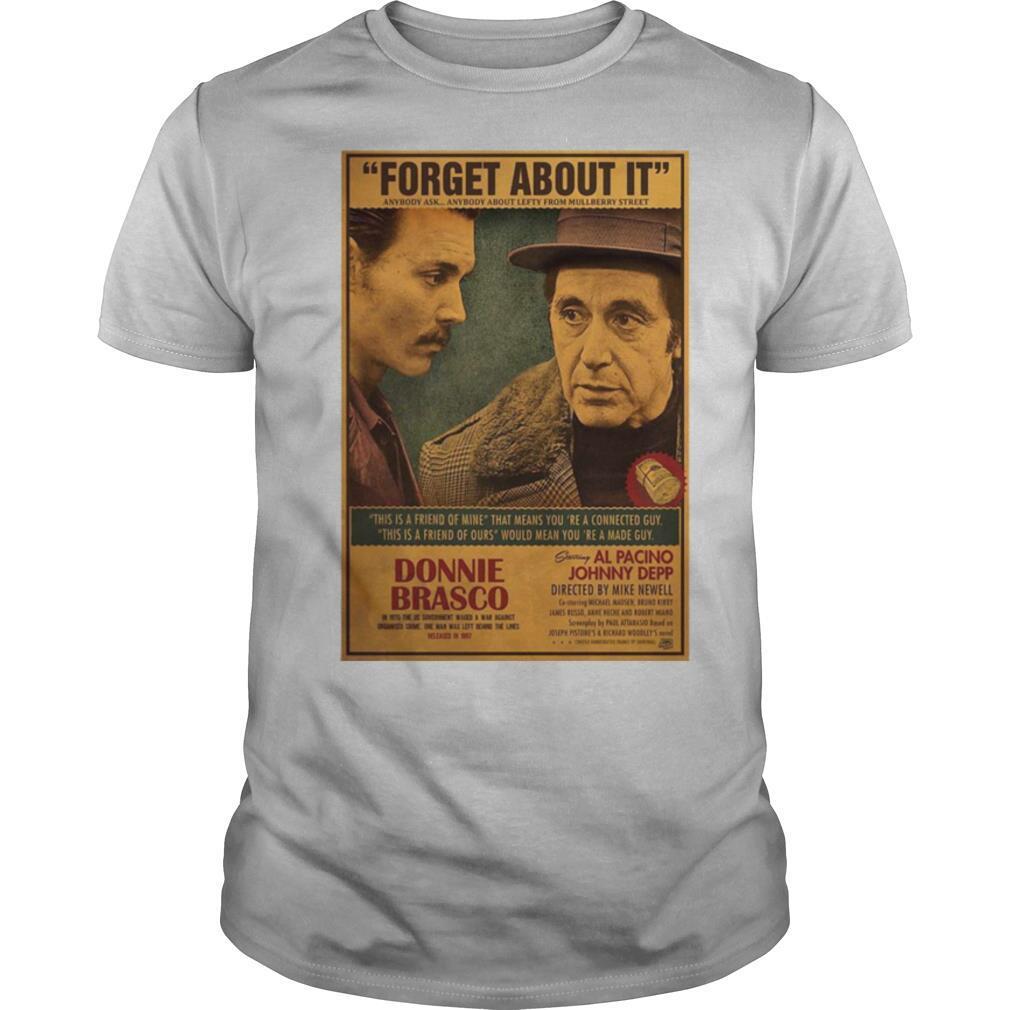 Donnie Brasco Al Pacino Johnny Depp Retro Movie Print shirt Classic Men's