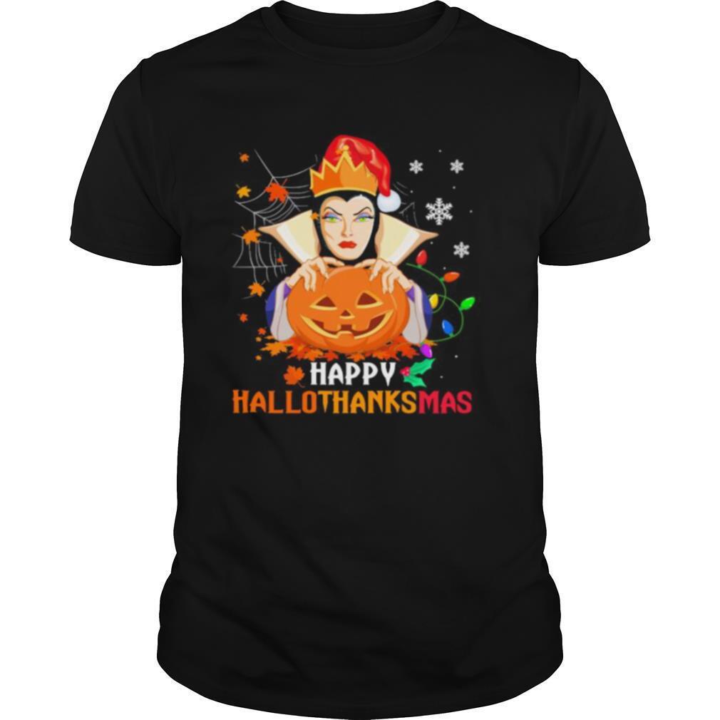 Evil queen happy hallothanksmas halloween thanksgiving christmas shirt Classic Men's