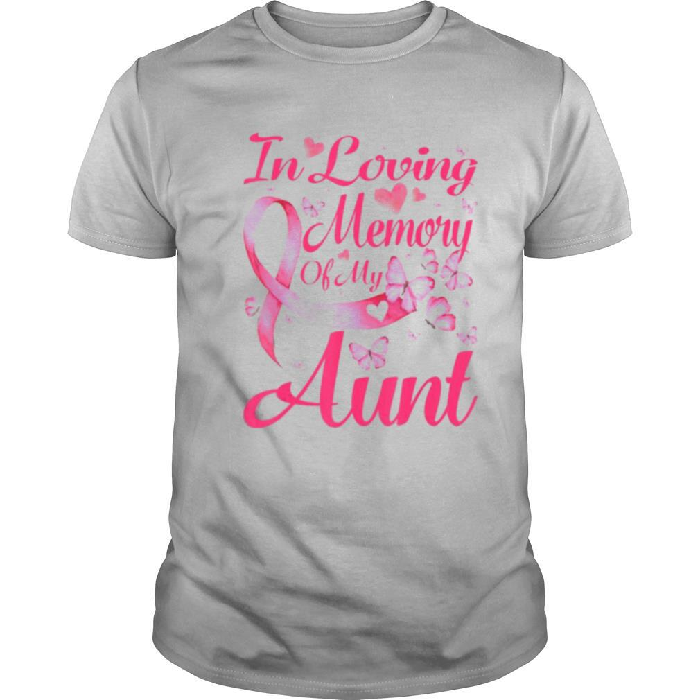 In Loving Memory Of My Aunt Breast Cancer Awareness shirt Classic Men's