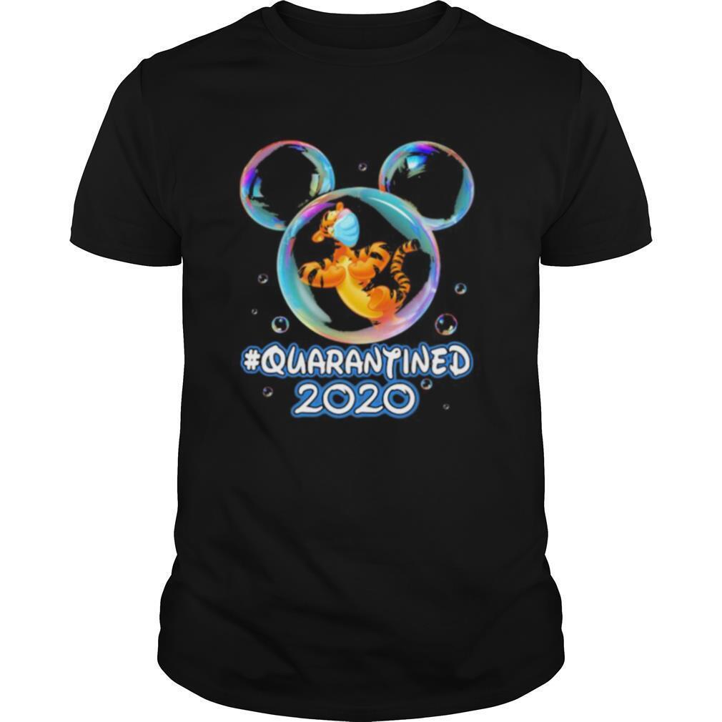 Mickey mouse tigger wear mask quarantined 2020 shirt Classic Men's