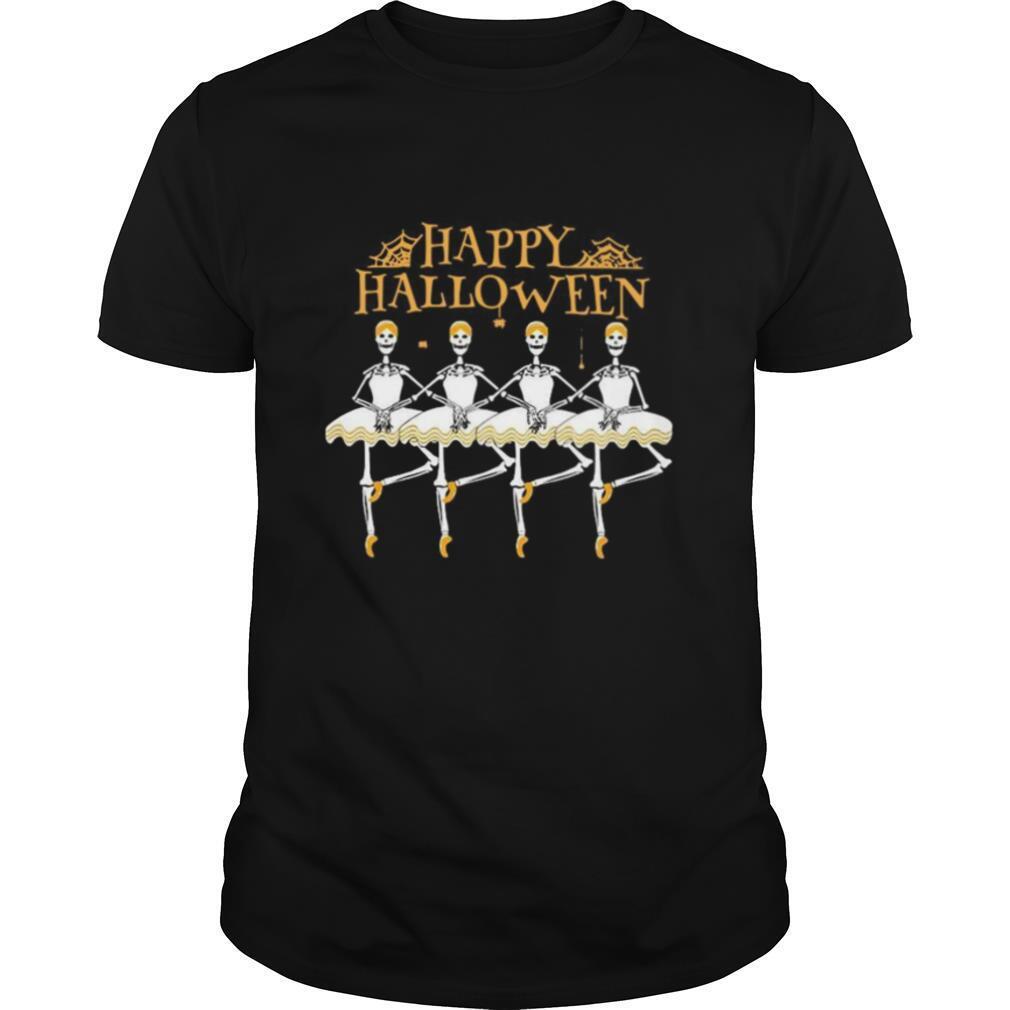 Skeleton Dancing Ballet Happy Halloween shirt Classic Men's