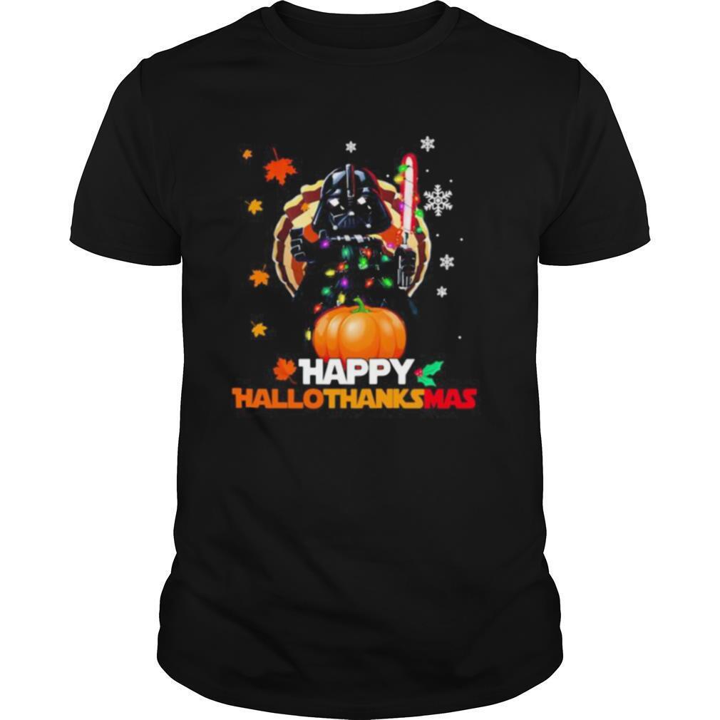 Star wars darth vader happy hallothanksmas halloween thanksgiving christmas shirt Classic Men's