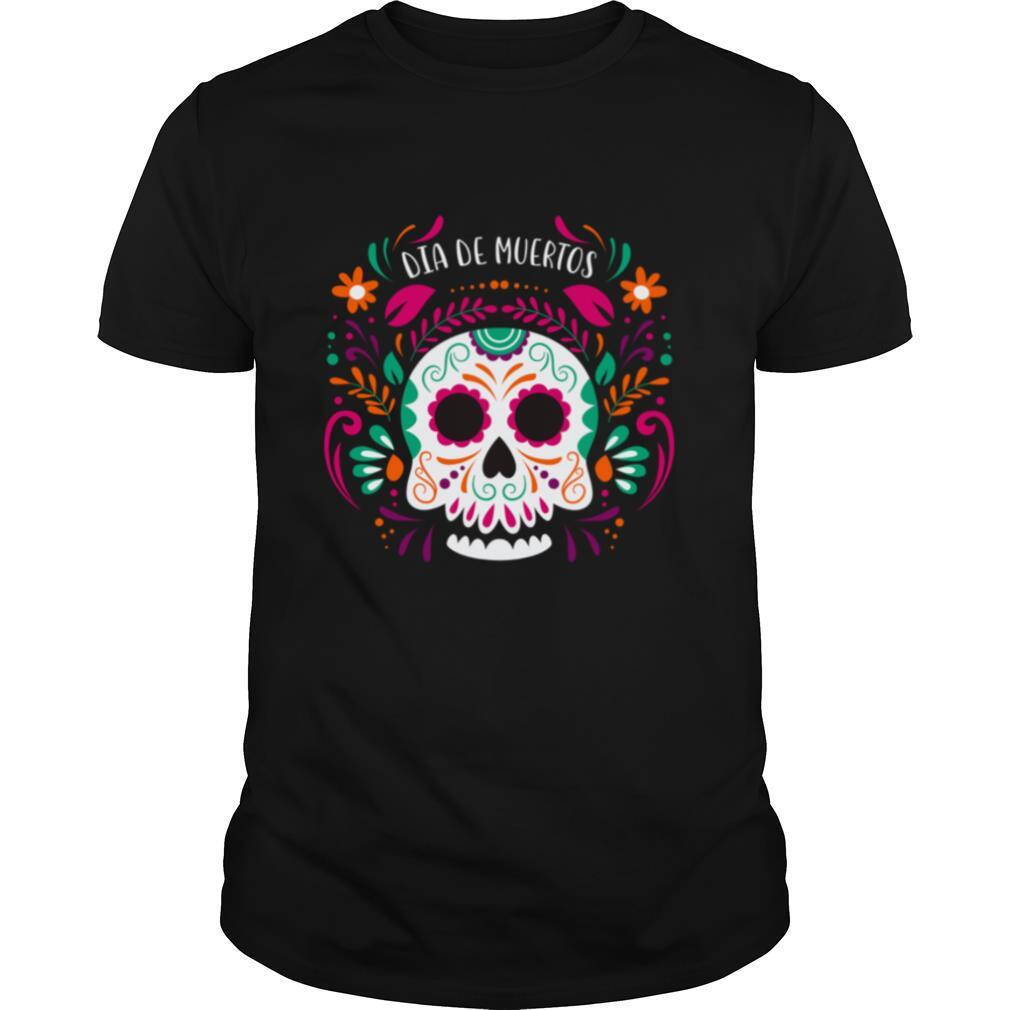 Sugar Skull Day Dead Dia De Muertos shirt Classic Men's