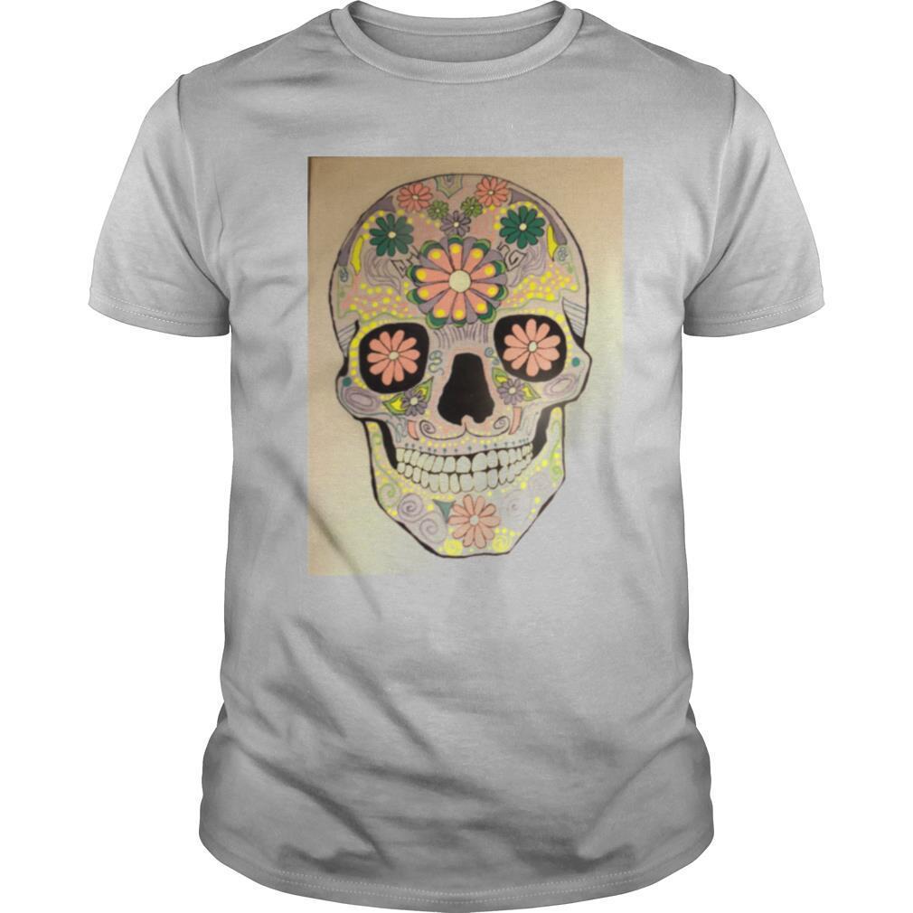 Day Of The Dead Sugar Skull Flower Heaven shirt Classic Men's
