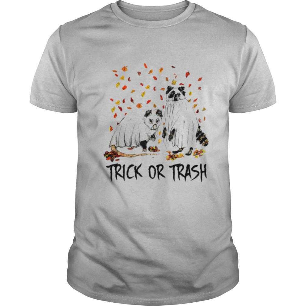Halloween cat ghost trick or trash shirt Classic Men's