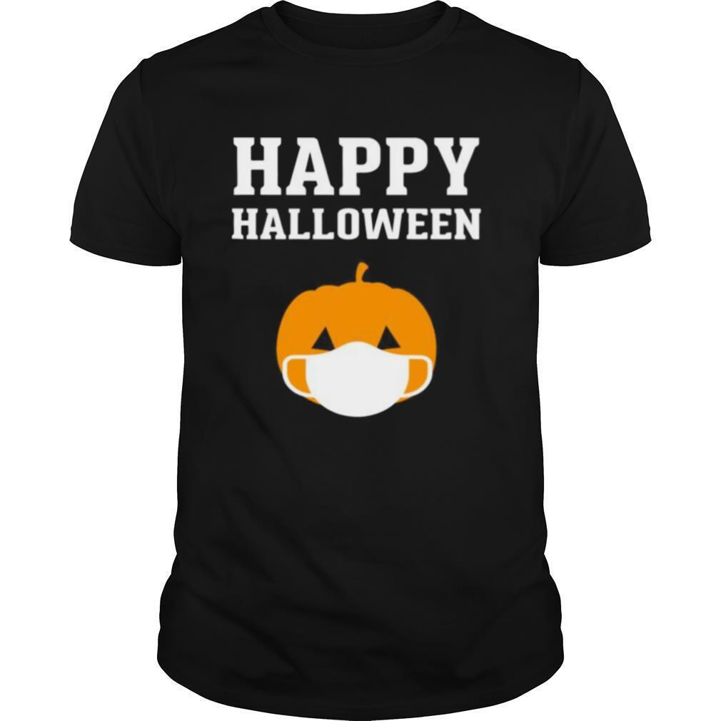 Happy Halloween QuarantineLockdown 2020 Pumpkin Face Mask shirt Classic Men's
