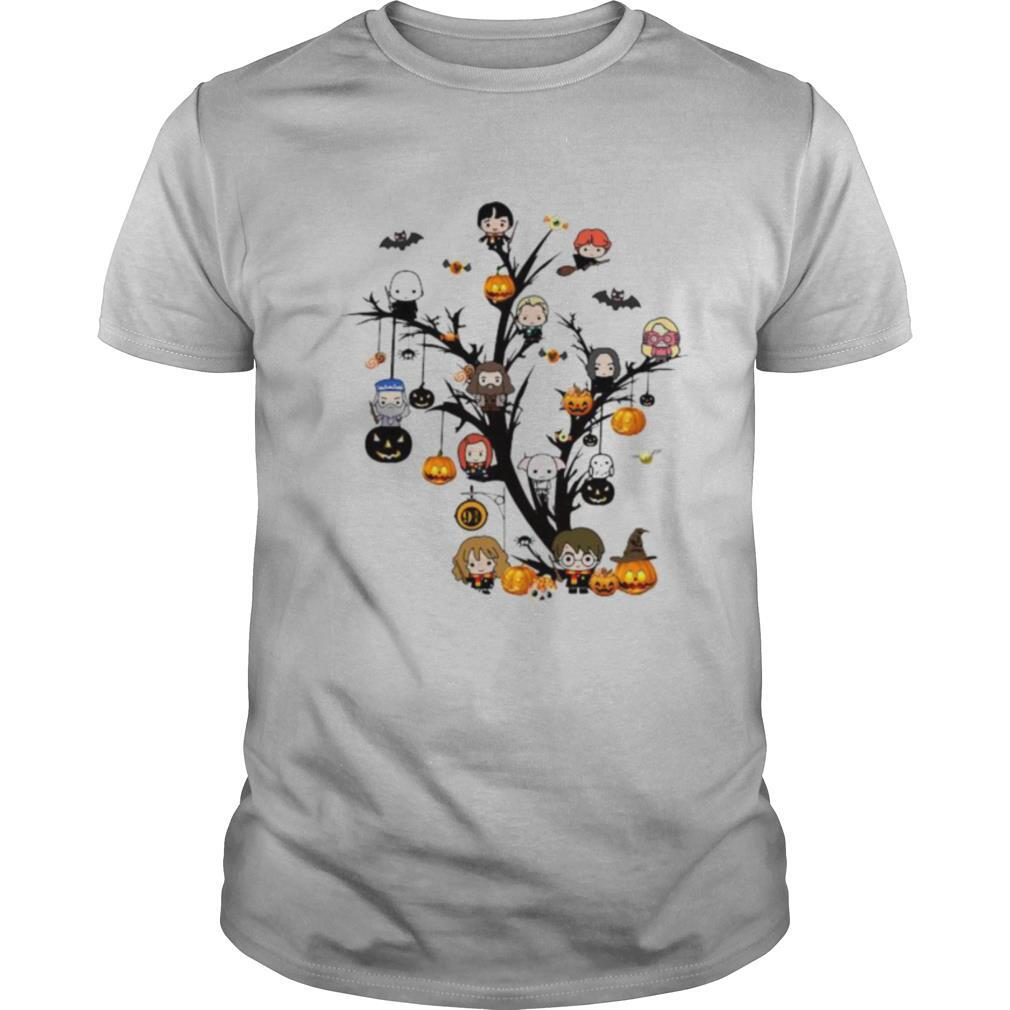 Happy halloween tree harry potter characters chibi witch shirt Classic Men's