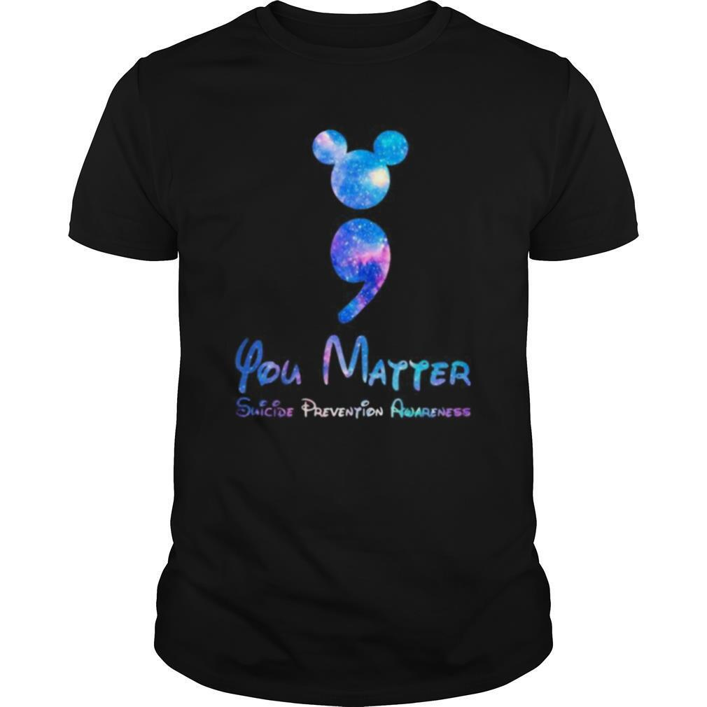 Mickey mouse you matter suicide prevention awareness shirt Classic Men's
